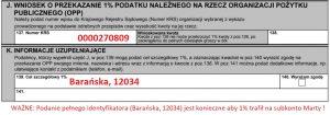 Fragment formularza PIT